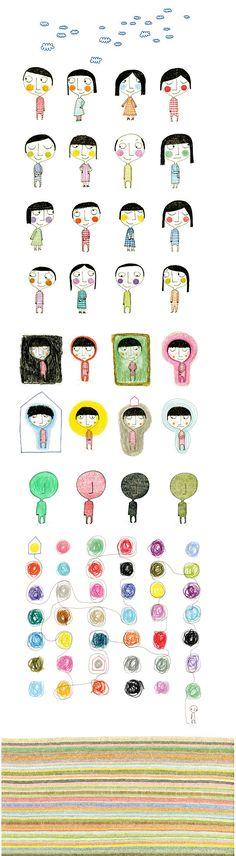 Csil Cb : Portfolio : Portfolio simple cartoon illustration , contemporary world ...little people xamples