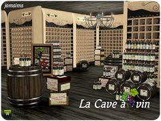 La cave a vin - wine cellar by Jomsims - Sims 3 Downloads CC Caboodle