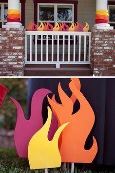 une f te pompier invitations d co jeux pompiers. Black Bedroom Furniture Sets. Home Design Ideas