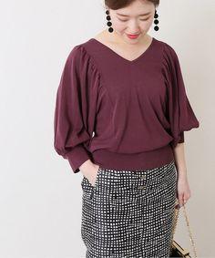 ニット Knitwear, Knitting, Sewing, Blouse, Long Sleeve, Sleeves, Sweaters, Tops, Women