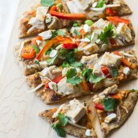 Quick & Easy Thai Curry Naan Pizza January 22, 2015 ~ by Min~ 16 Comments