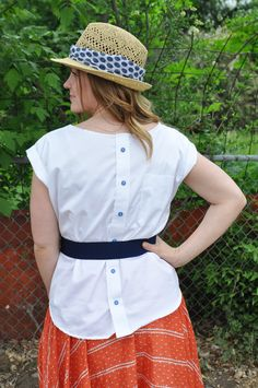 I love this  Mad Mim_Butt  on Up Refashion Post  http://madmim.com/button-up-refashion-swap-sailboat-blouse-on-me/#
