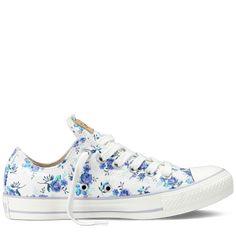 Chuck Taylor Converse Blue Floral