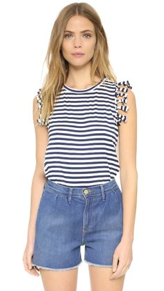 Clu Clu Too Fringe Trimmed Tank - Navy | SHOPBOP.COM saved by #ShoppingIS