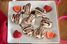 Perfect for Valentine's Day—or any day you want to show your family you love them—these Strawberry Heart Pillows are drizzled with melted chocolate.