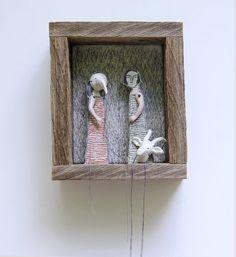 bordados a mano usando máscaras de diorama por MarysGranddaughter, $575.00