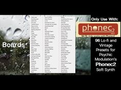 """""""Boards"""" for Phonec 2 Presets Bank of 96 sounds by Lars Lentz"""
