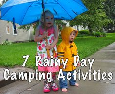 7 Rainy Day Camping Activities