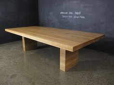 American Oak Dining Table | Christian Cole Furniture - one day, this shall be my dining table.