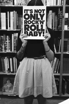 It's not only Rock and Roll baby! girl skirt black and white