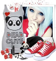 """""""Dead Cute"""" by scene-x ❤ liked on Polyvore"""