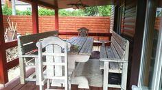 """Комплект мебели """"Викинг"""" с эффектом сильного старения на открытой террасе. #shalewood #viking"""