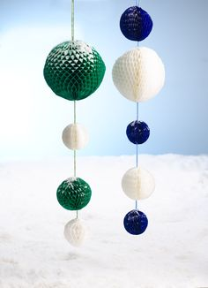 Honeycomb decorations! Honeycomb Decorations, Christmas Makes, Mint, Peppermint