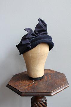 1940s Hat // Fisk Chicago Wool Hat // vintage by dethrosevintage