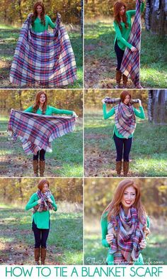 20 Style Tips On How To Wear Blanket Scarves
