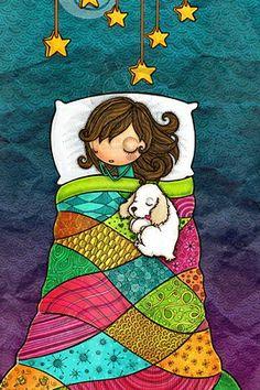 Good Night and Sweet Dreams! Birthday Greetings, Birthday Wishes, Happy Birthday, Art And Illustration, Happy B Day, Whimsical Art, Good Night, Sweet Dreams, Cute Art