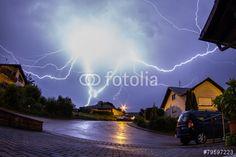 """Laden Sie das lizenzfreie Foto """"Gewitter 300612-3"""" von kraichgaufoto zum günstigen Preis auf Fotolia.com herunter. Stöbern Sie in unserer Bilddatenbank und finden Sie schnell das perfekte Stockfoto für Ihr Marketing-Projekt!"""