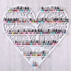 Perfume nail polish display rack / heart-shaped  So Cute!!!!!!!