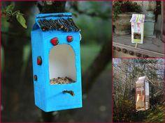 Bird houses milk cartons How To Make Birds House Using Milk Jugs and Cartoons