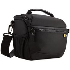 Case Logic camera shoulder bag is designed to protect your DSLR camera and all accessories that a photographer needs. This durable, flexible polyester bag features adjustable, padded dividers to keep your camera in a secure place at all times. A front zippered pocket along with mesh slip pockets are perfect for accessories along with an internal zippered compartment to store memory cards. Removable, adjustable shoulder strap along with a comfortable grip handle provides multiple carrying options Appareil Photo Reflex, Dslr Camera Bag, Basket Bag, Shoulder Strap, Bicycle, Pouch, Bags, Cycling Equipment, Products