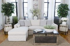 Elements Fine Home Haley Fabric Sectional in Seashell (Right Arm Facing Loveseat, Left Arm Facing Chaise)