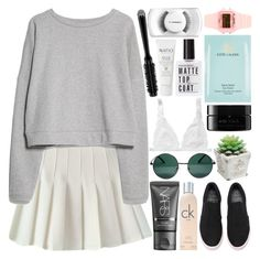 """SHORT BREAK [ read description ]"" by adventuring-into-the-night ❤ liked on Polyvore featuring MANGO, NARS Cosmetics, Calvin Klein, YHF, Monki, arbÅ«, Estée Lauder, Delfina, Natio and GHD"
