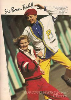 JC Penney Clothes Ad in Teen Magazine August 1985 80s Fashion