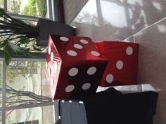 Large dice decor for a casino themed event at The Marten House Hotel Lilly Conference Center - Indianapolis, IN Las Vegas Party, Vegas Theme, Casino Night Party, 80s Party, Casino Royale, Casino Party Decorations, Casino Theme Parties, Mardi Gras, Poker Party