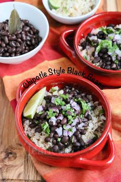 Slow Cooker Chipotle Style Black Beans Recipe ~ http://jeanetteshealthyliving.com