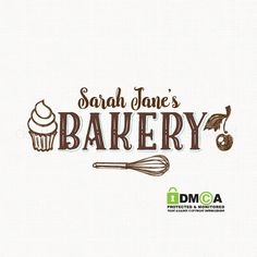 bakery logo design cupcake logo design whisk by stylemesweetdesign