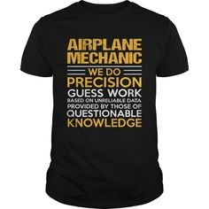 AIRPLANE MECHANIC T-Shirts, Hoodies. Check Price Now ==► https://www.sunfrog.com/LifeStyle/AIRPLANE-MECHANIC-117423190-Black-Guys.html?id=41382