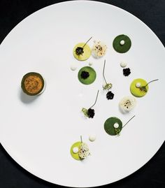 Foie gras with Avocado by chef Paul Liebrandt. © MARCUS NILSSON