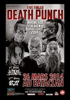 Among the Living: FIVE FINGER DEATH PUNCH + UPON A BURNING BODY + PO...