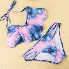 Hollow out gradient fashion bikini