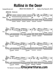 Easy Piano Sheet Music with Letters