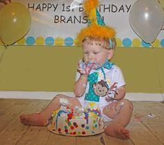 Mod Monkey Boys First Birthday Personalized by AllRibbonedOut, $36.00
