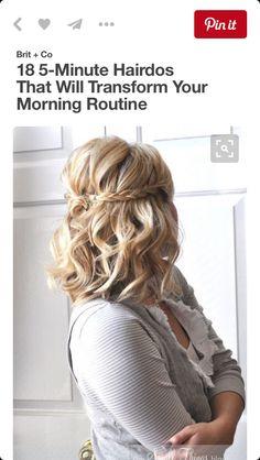 Braid w/ a bump and curled hair