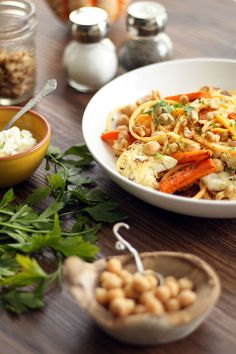 Herbed Ricotta Chickpea Butternut Squash Noodles with Cumin-Roasted ...