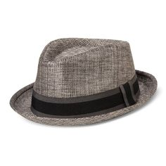 Bioworld Men's Fedora With Black And Gray Band - Gray L/XL