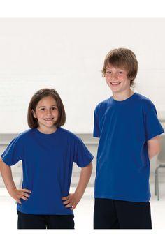 Leichtes T-Shirt für Kinder Russell | logokleidung.de #tshirts #tshirtsbedrucken #firmentshirts #tshirtsbesticken #promowear #teambekleidung