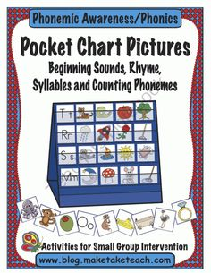 Pocket Chart Pictures from Make Take Teach on TeachersNotebook.com (26 pages)