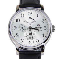 Chronograph-Divers.com - Orient Automatic Male Silver Dial Black Leather Strap Casual Analog Watch EZ09005W SEZ09005W, $222.00 (https://www.chronograph-divers.com/orient-automatic-male-silver-dial-black-leather-strap-casual-analog-watch-ez09005w-sez09005w/)