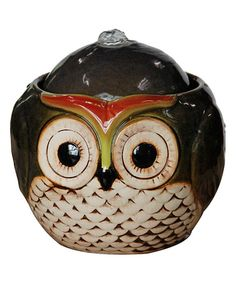 Love this Black Owl Tabletop Fountain on #zulily! #zulilyfinds