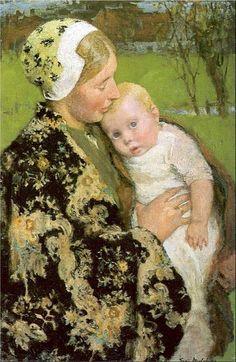 Motherhood-Julius Garibaldi Melchers (1860 – 1932, American)