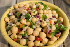 Garbanzo Salad - Lydia's Flexitarian Kitchen- I had this dish on a cruise and it looks simple but it's so fresh and tasty.