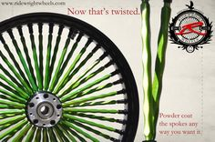 "Custom color on the ""Twista"" Spokes."