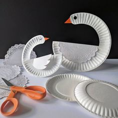Paper plate craft swan paper plate art, paper plate crafts for kids, Paper Plate Art, Paper Plate Crafts For Kids, Animal Crafts For Kids, Paper Plates, Kids Crafts, Paper Crafting, Art For Kids, Cute Crafts, Easy Crafts