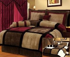 Burgundy burgundy bedroom and interior design on pinterest for Black and burgundy bedroom ideas