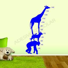 Adesivo decorativo de parede régua infantil - Adesivos Dicolar