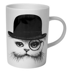 Rory Dobner Marvellous Mugs - Cat in Hat (335.130 IDR) ❤ liked on Polyvore